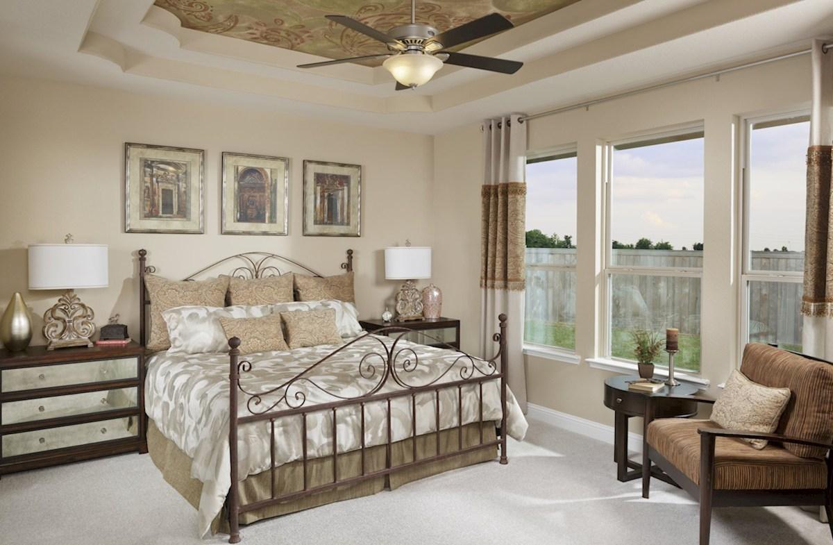 Young Ranch Fredericksburg spacious master bedroom