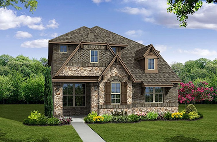 Brazos Elevation French Country A