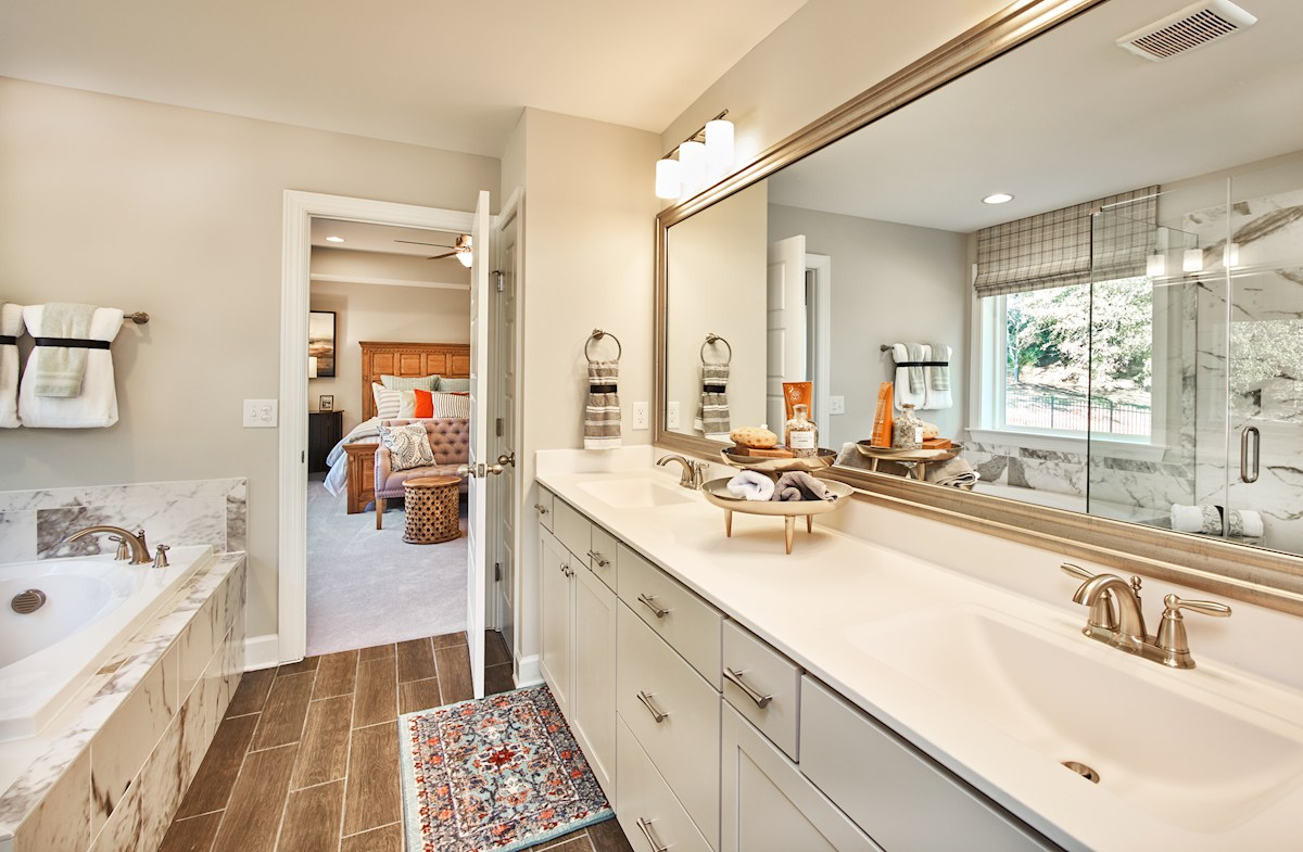 Sage master bathroom