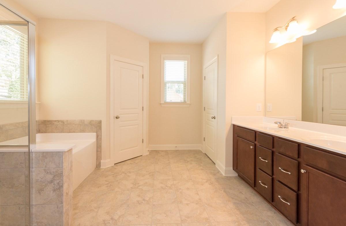 Aspen II quick move-in spa-inspired master bathroom