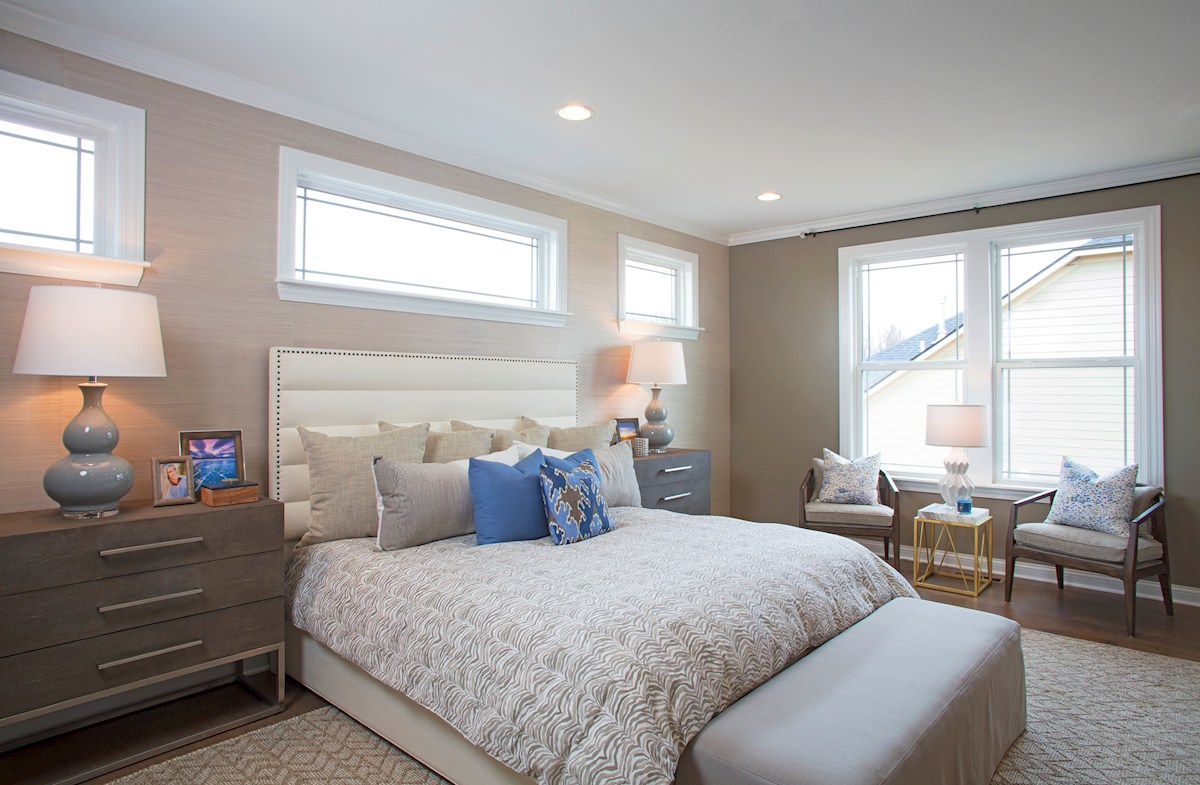 Master bedroom in the Tarkington Plan
