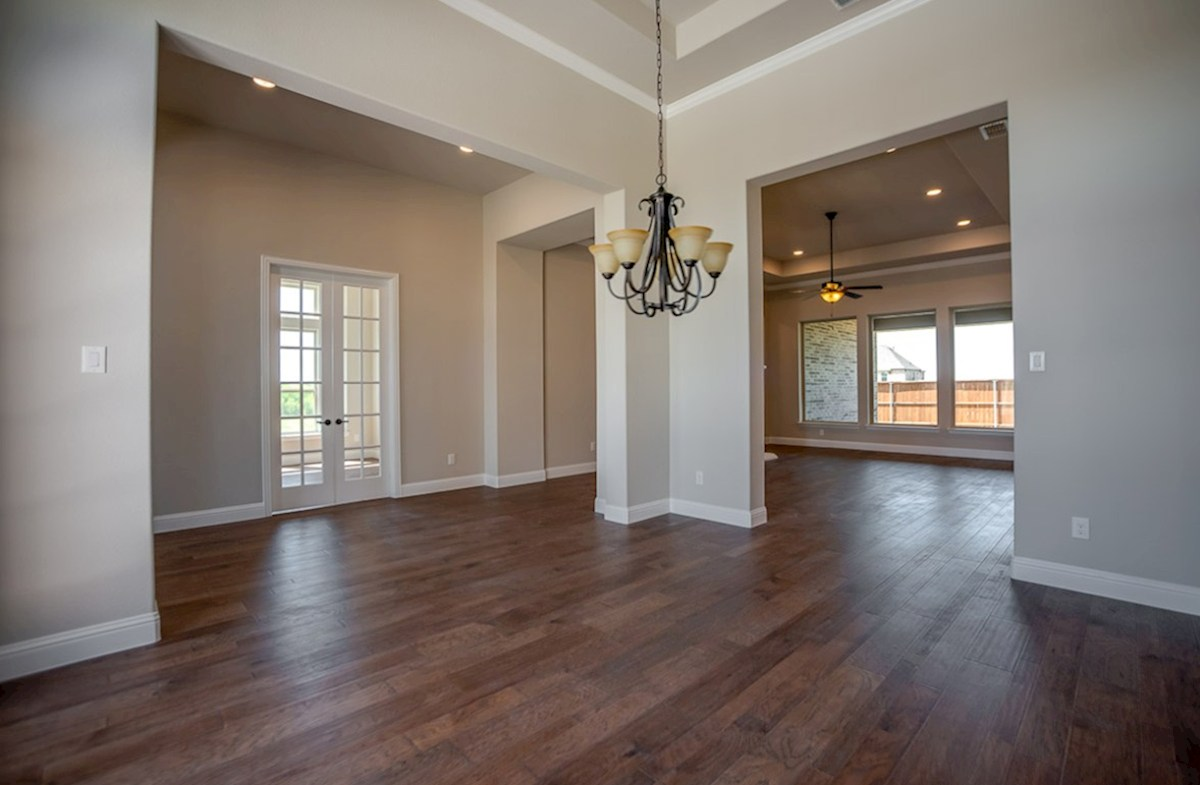 Calais quick move-in formal dining room with wood flooring