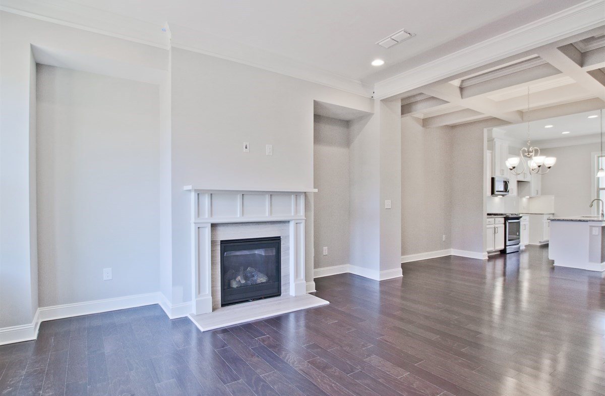Charleston quick move-in Family room with fireplace