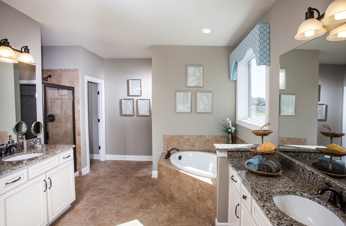 master bath with oversized tub