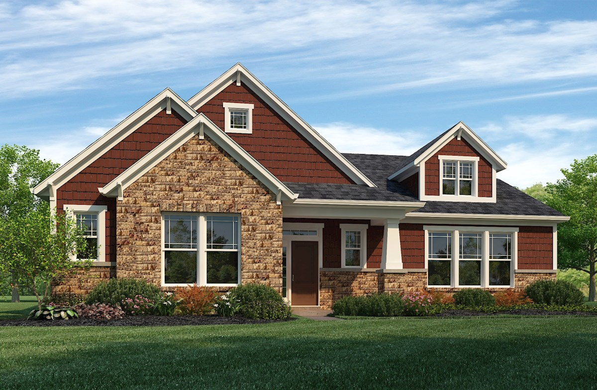 Bradbury Home Plan In Hampshire Meridian Collection Zionsville In Beazer Homes Beazer Homes