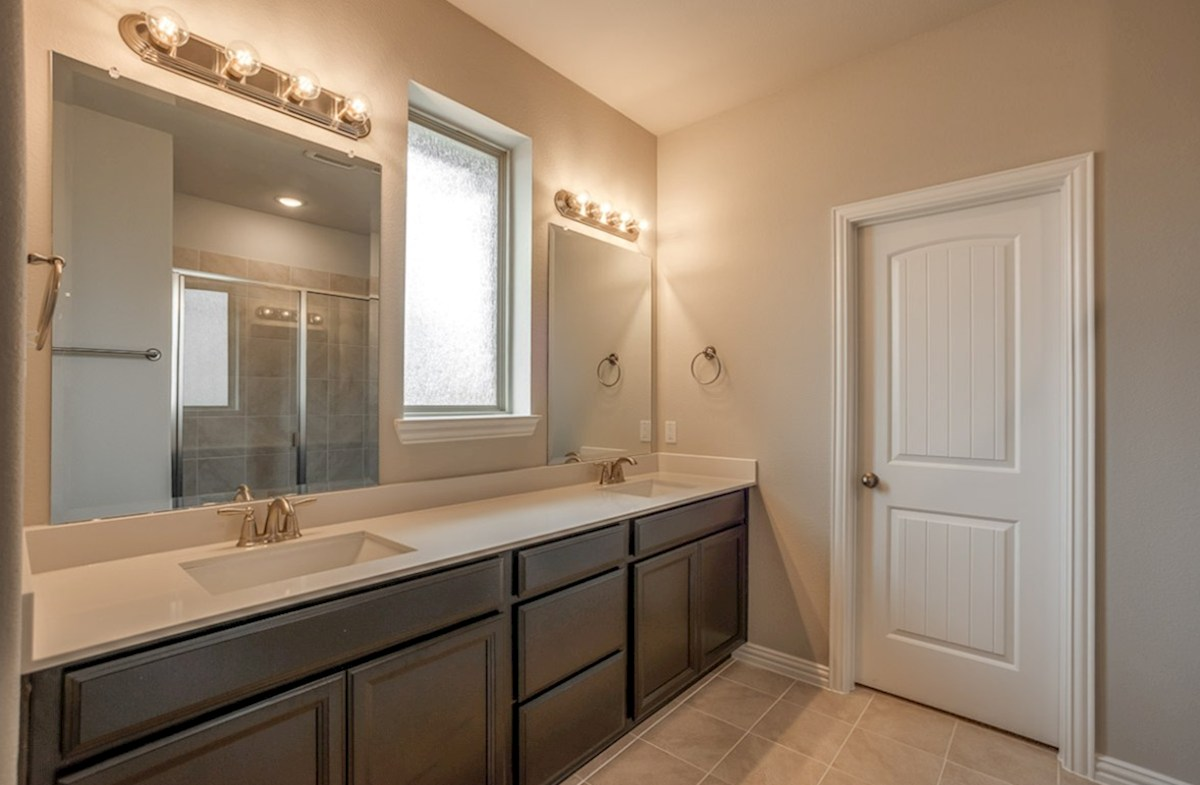 Avalon quick move-in Avalon master bathroom with double vanity