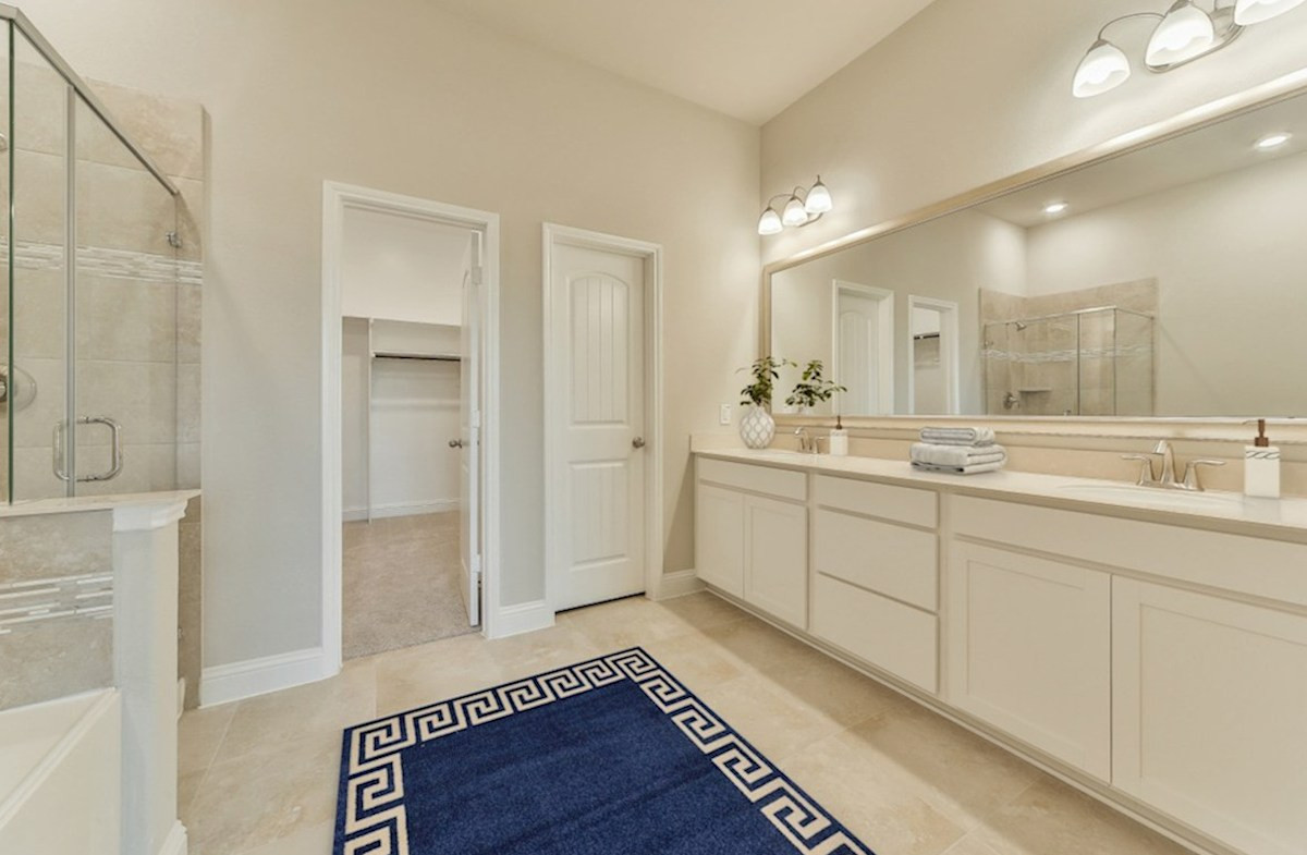 Bridgeland: Harmony Grove Cibola master bath with separate garden tub and shower