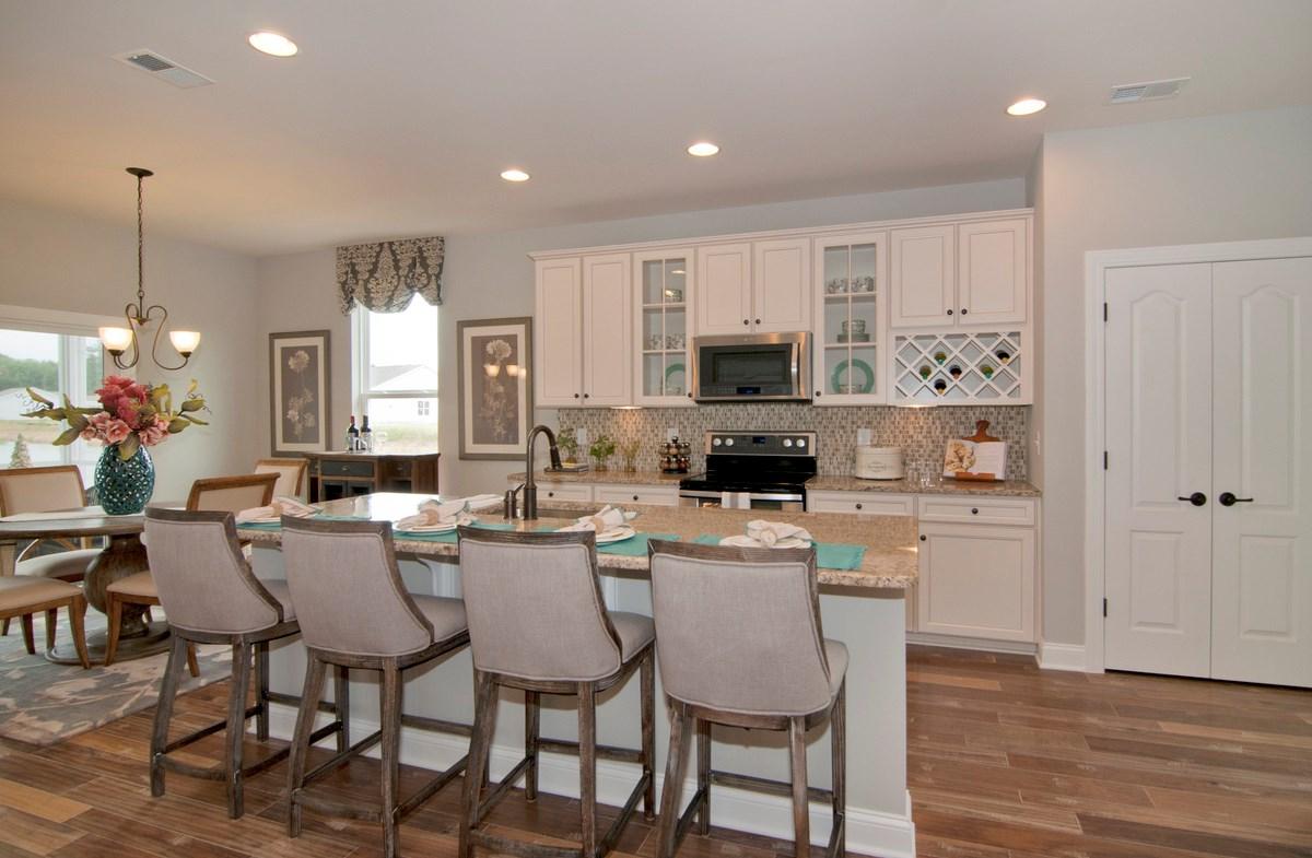 kitchen features granite countertops