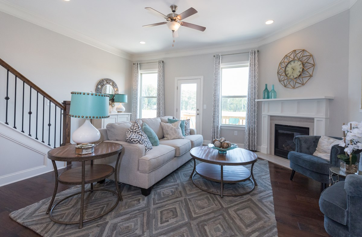 Peachtree Creek Township Ashland Stay warm by the fire in the cozy family room