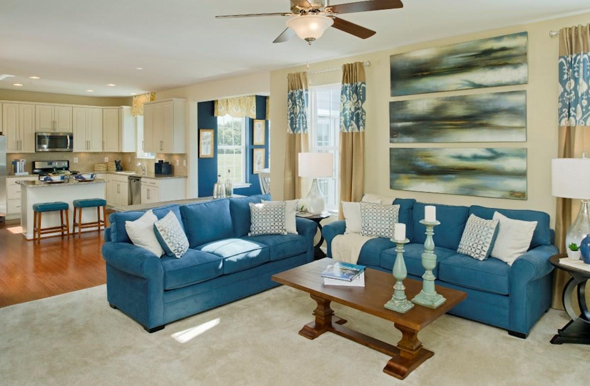The Preserve at Windlass Run - Single Family Homes Harrison cozy family room