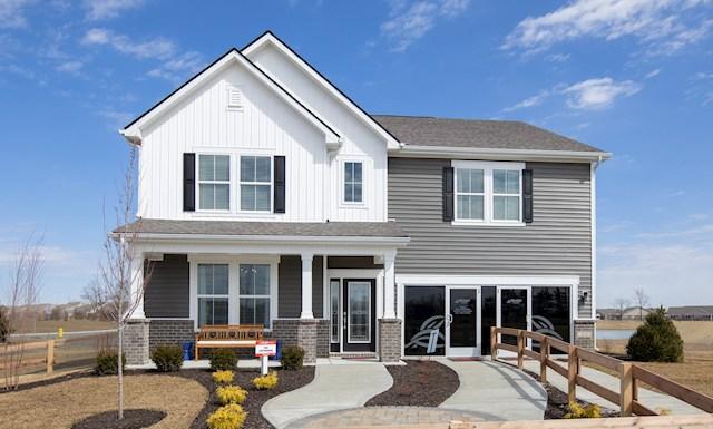 Jefferson Plan with Farmhouse exterior