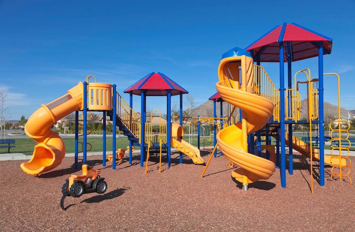 Community tot lot with slides and swings