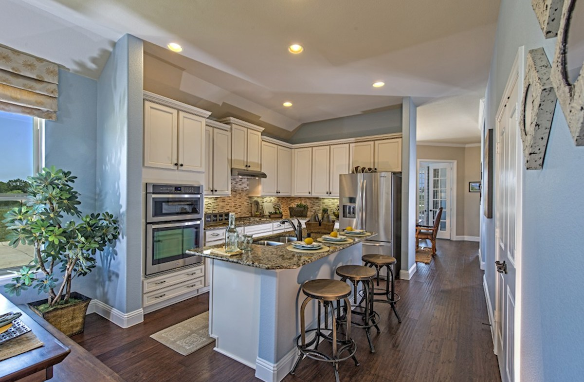 North Creek Millbrook open kitchen with large island