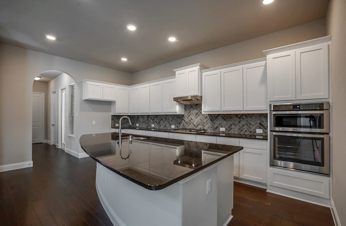 Brazos quick move-in open kitchen with white cabinets