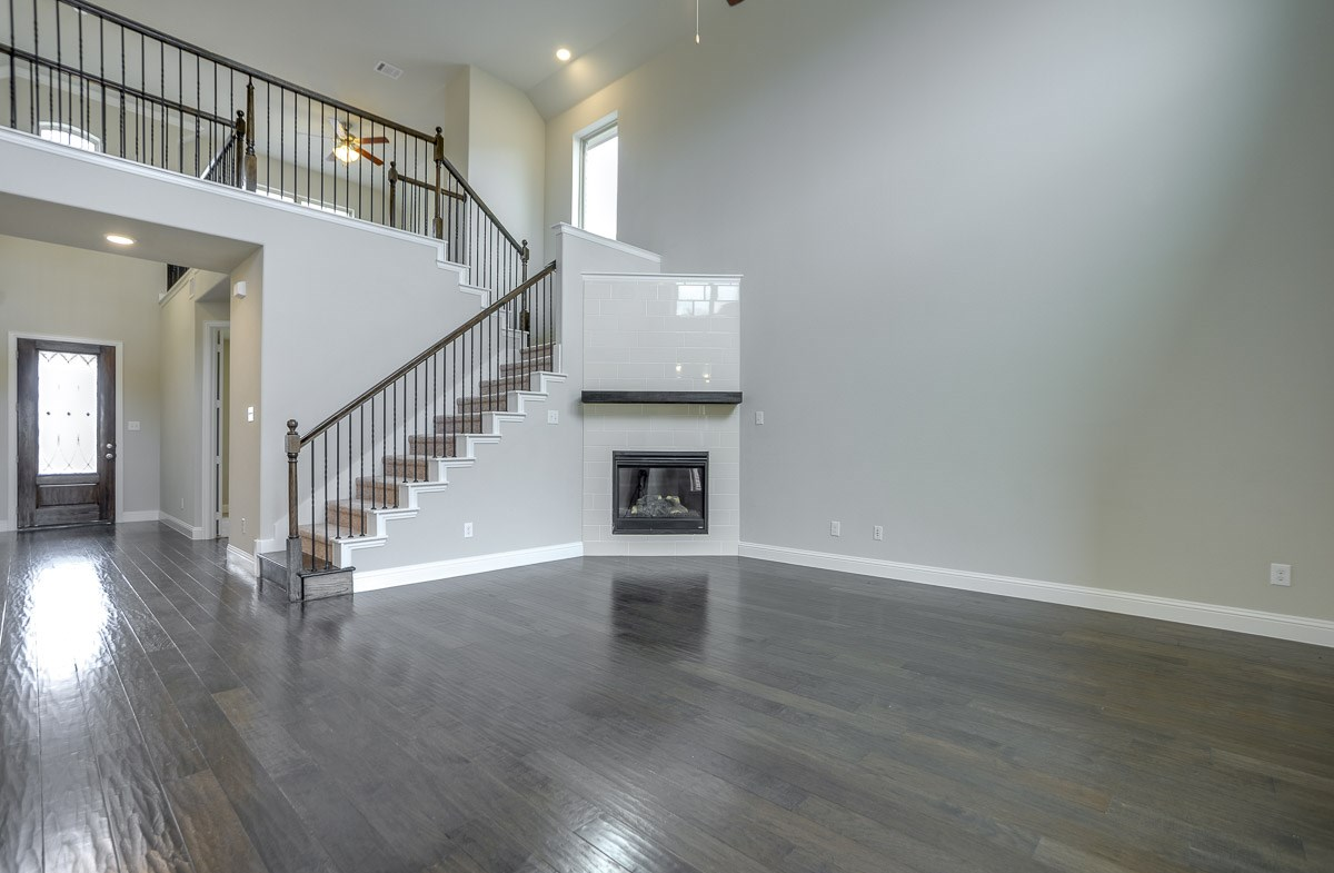 Brookhaven quick move-in great room with soaring ceilings