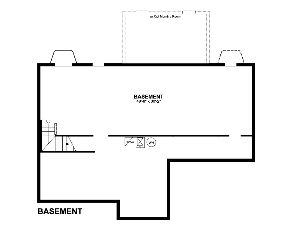Main floor plan for Basement