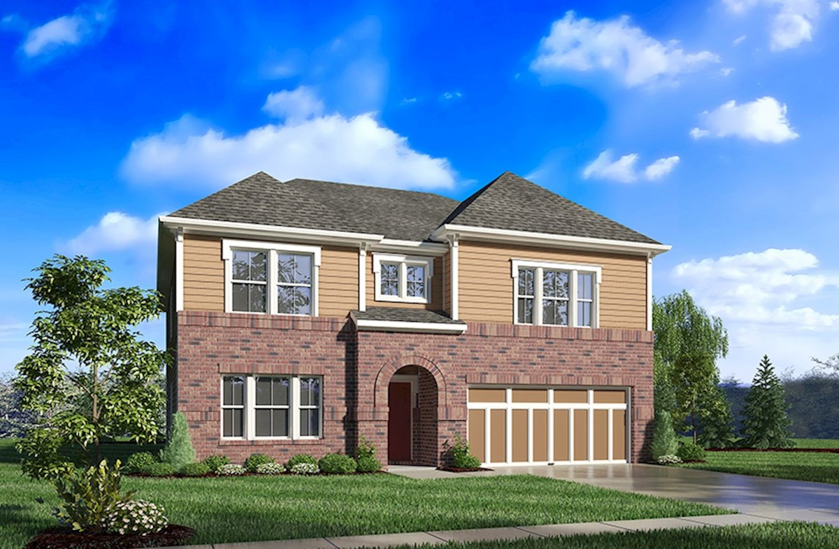 Jefferson Home Plan In Heritage At Vermillion Fishers In Beazer