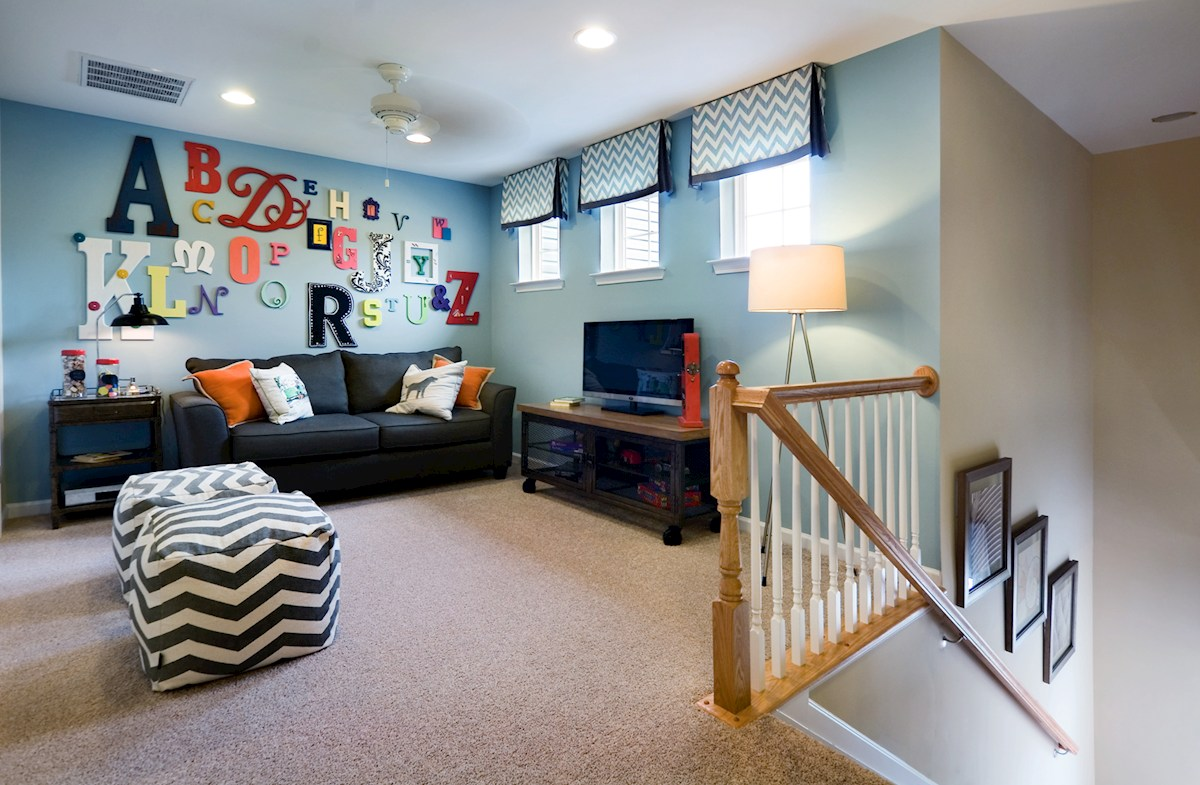 Bishop's Landing Canby II Upstairs loft provides additional living space