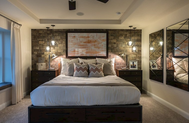 The Woodlands Townhomes Sycamore Private Master Bedroom Model