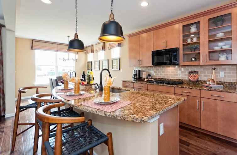The Estuary Milton Open kitchen featuring granite countertops