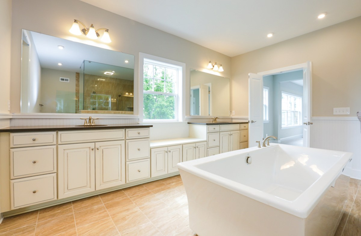 Willowsford Coventry luxury master bathroom