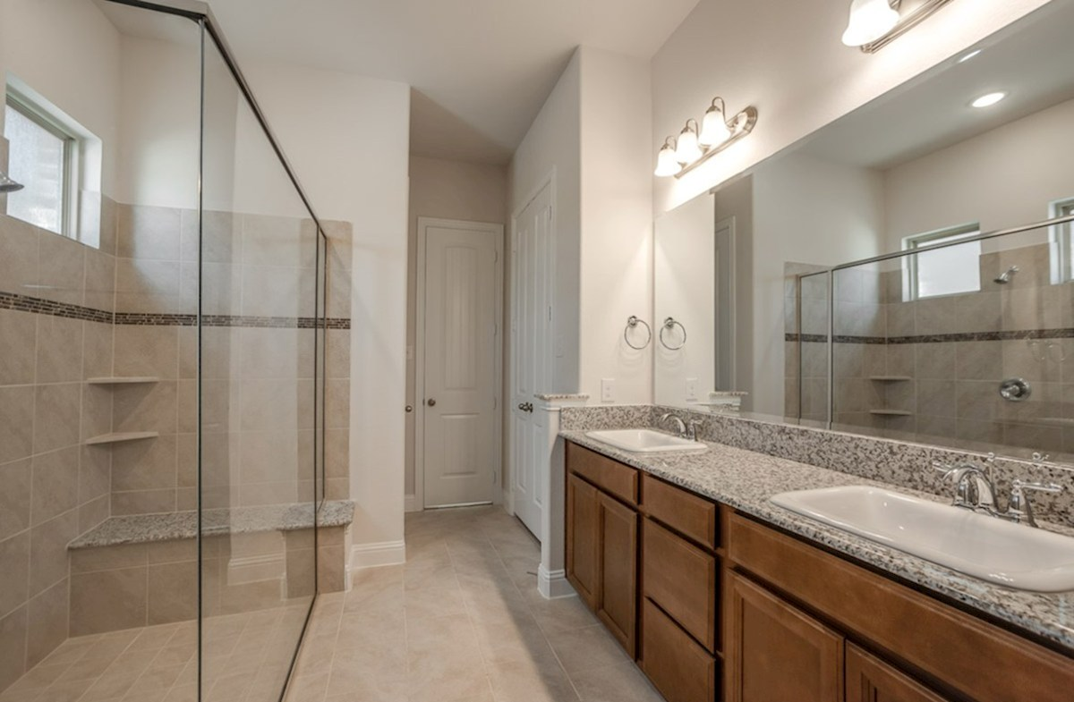 Wimberley quick move-in master bathroom with oversized walk-in shower