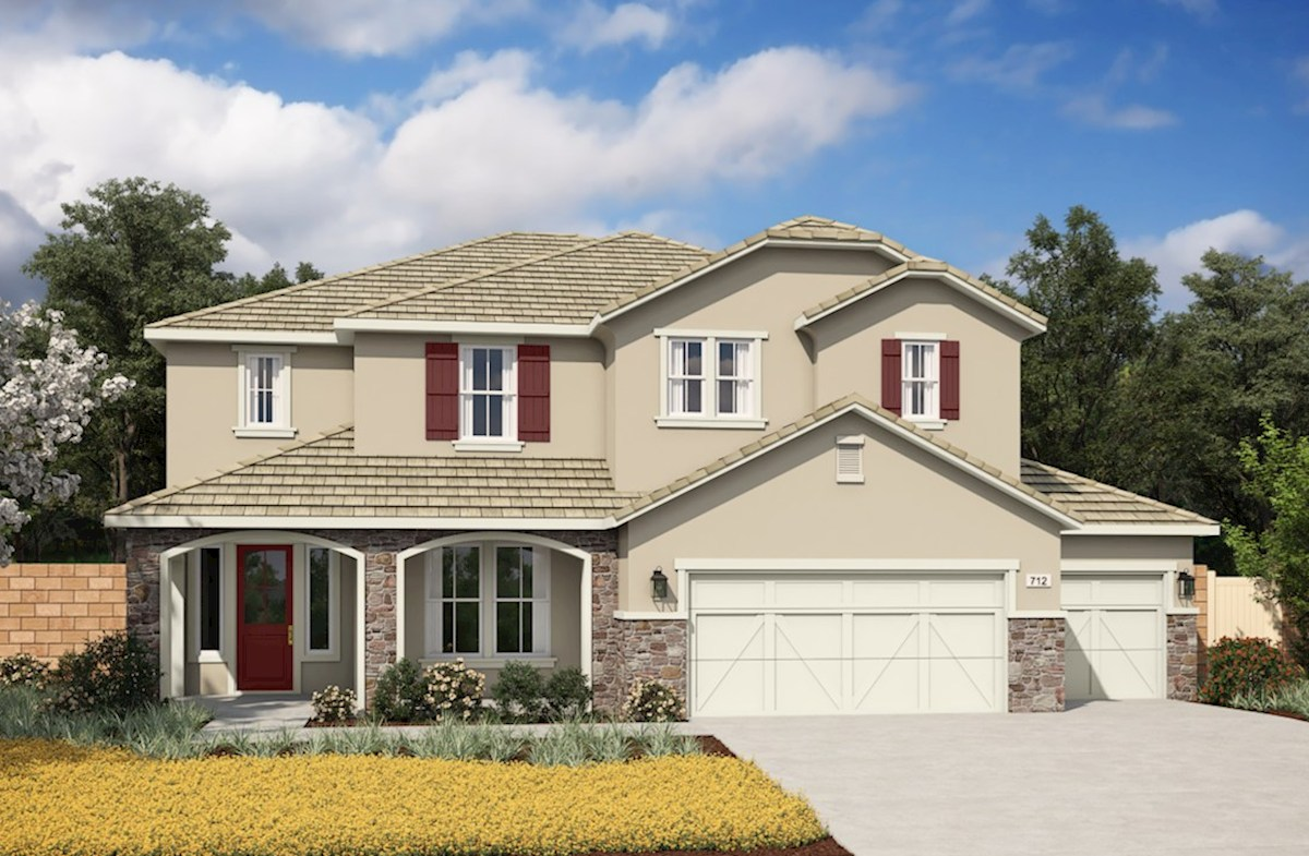 Rose Elevation French Country L