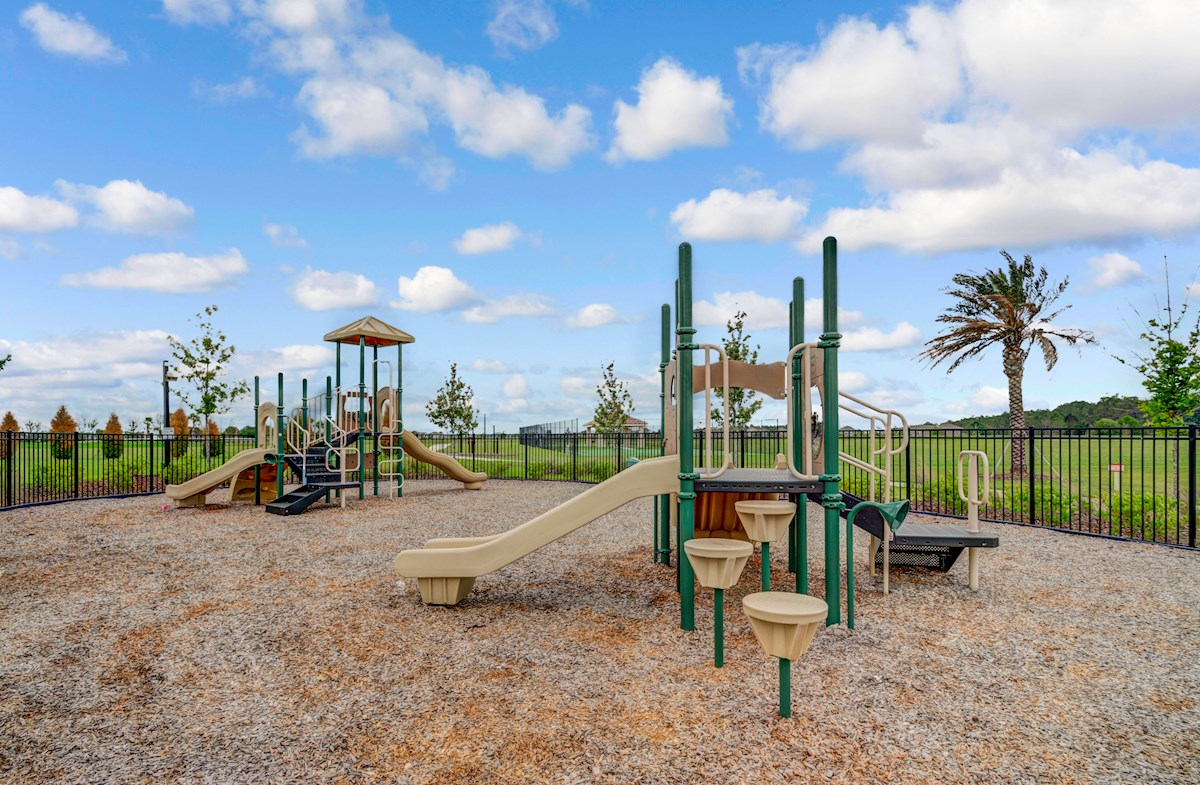 playground with slides and jungle gym