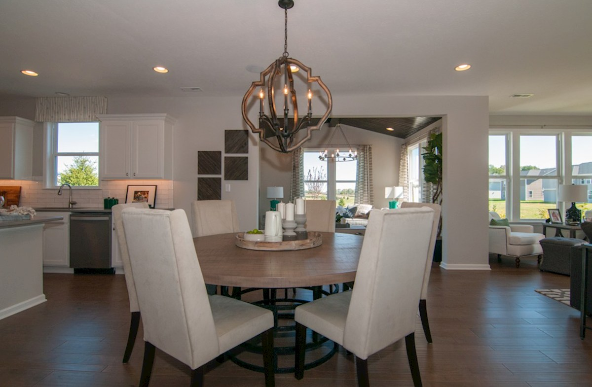 Summerland Park Porter open breakfast area with hardwood floors