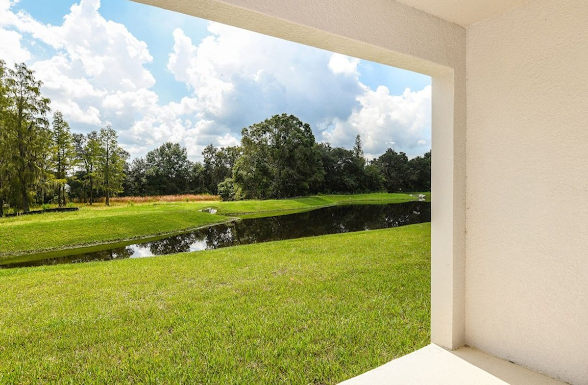 Siesta Key quick move-in Lanai with pond views