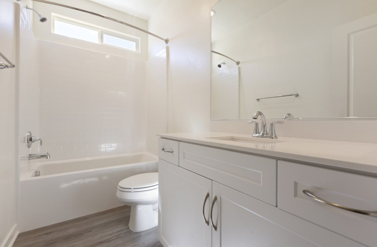 Piedmont quick move-in Spacious secondary bathrooms are ideal for guests
