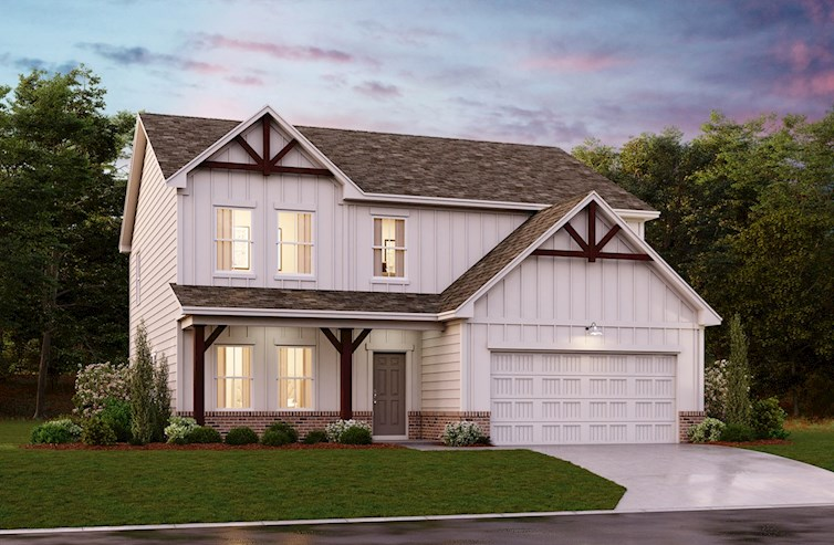 Two-story, farmhouse style home
