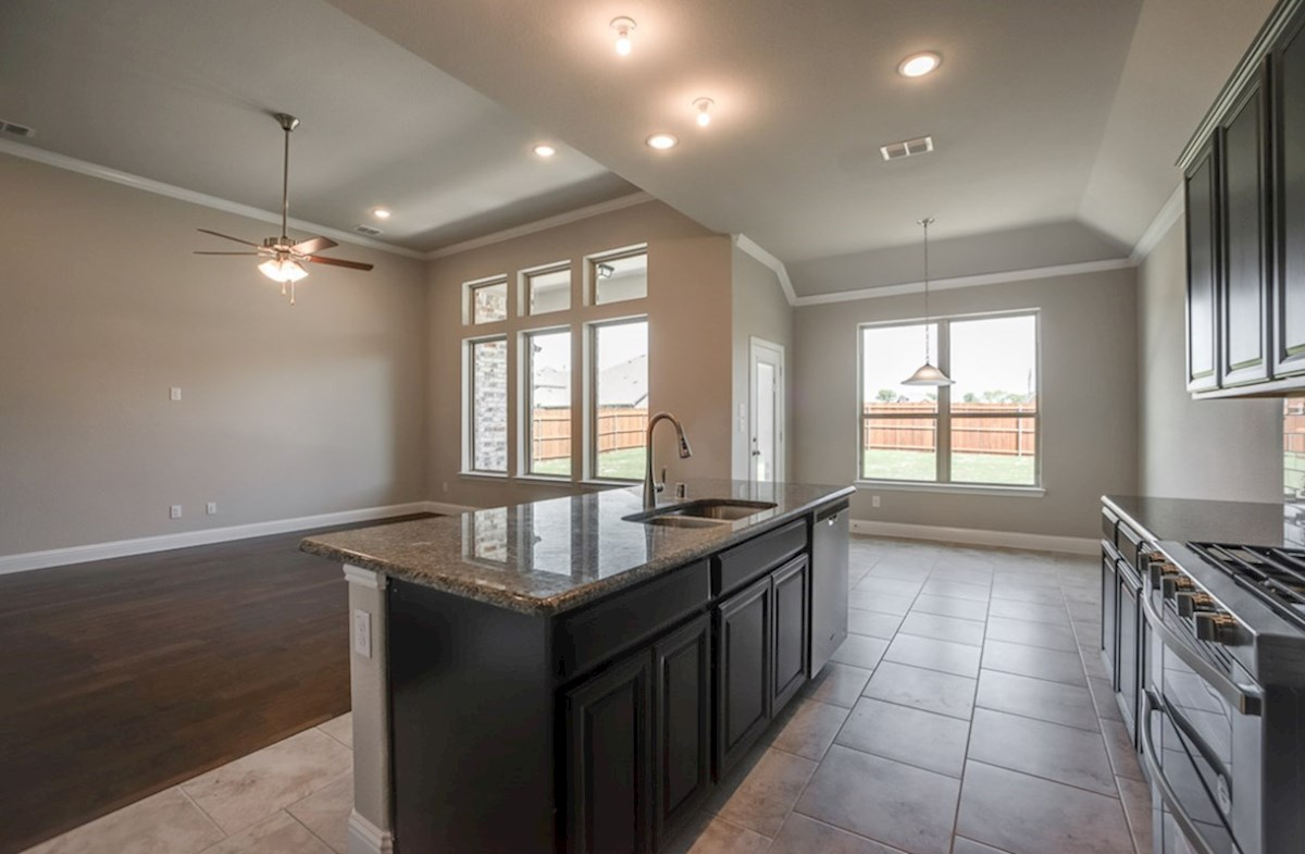 Blakely quick move-in kitchen opens to great room