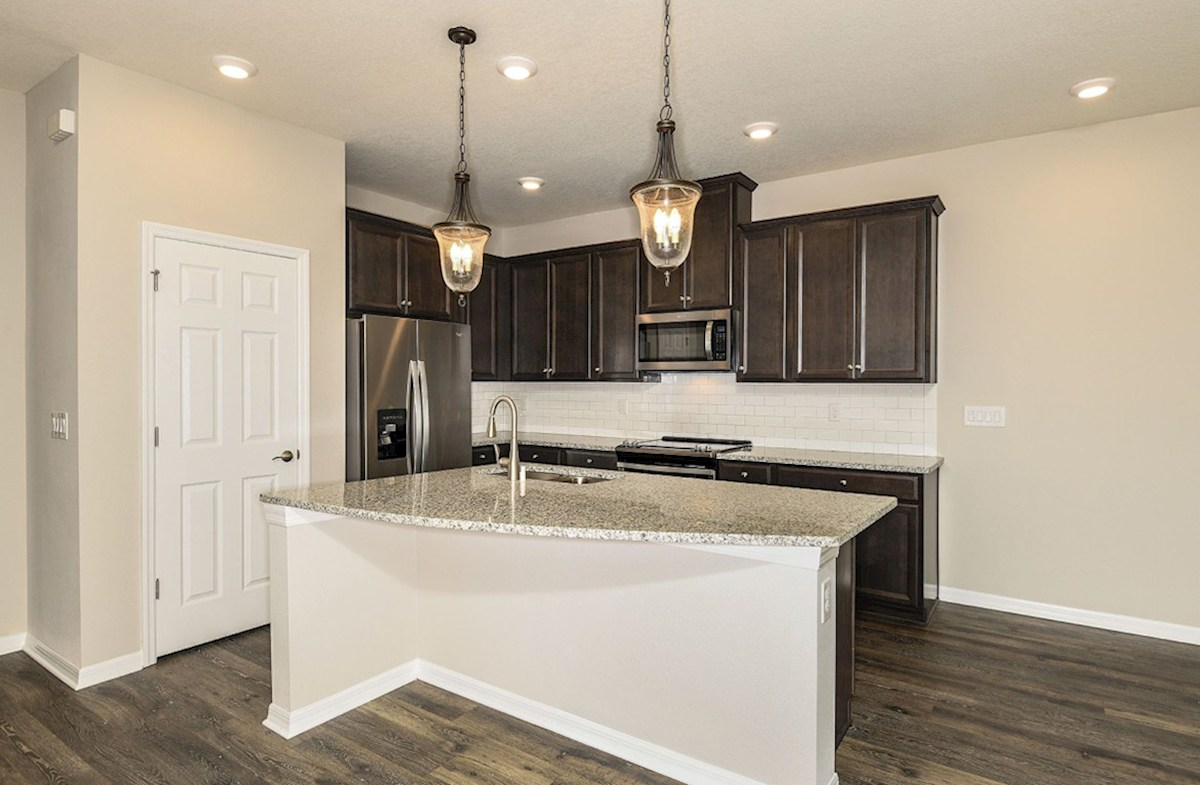 "Siesta Key quick move-in Kitchen with island and 42"" slate cabinets"