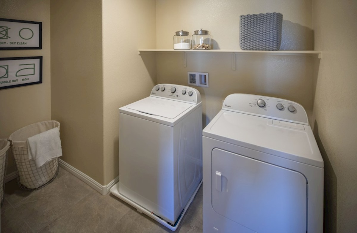 Hamilton Place Mesquite roomy laundry room