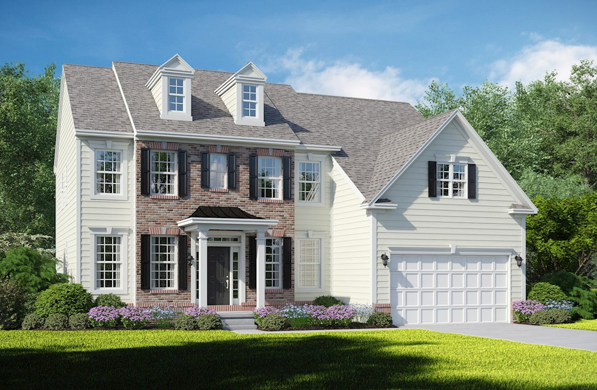Brookview B with brick accent