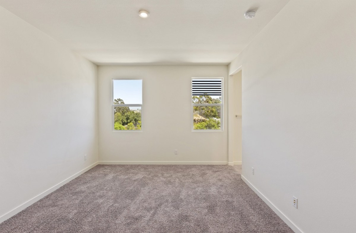Foxtail quick move-in Master bedroom located in the back of home for best exterior views and natural light