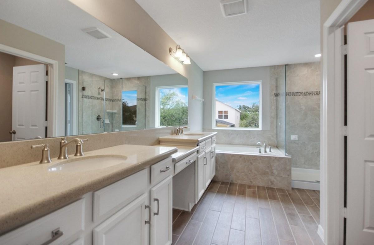Canterbury quick move-in spa-inspired master bath