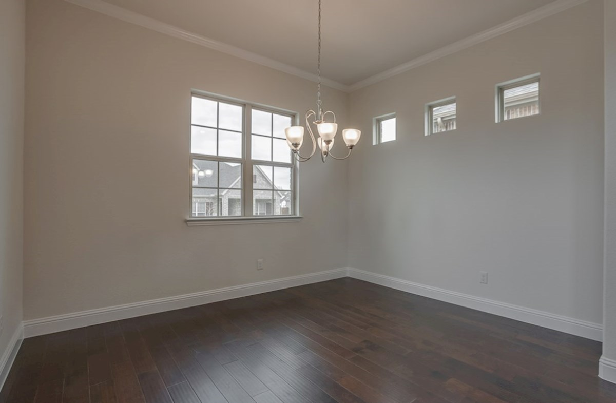 Brazos quick move-in dining room with wood floors