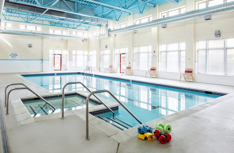 Indoor pool and hot tub open year round