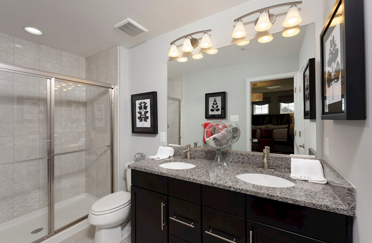 The Preserve at Windlass Run Townhomes  Oakland II  luxurious master bathroom