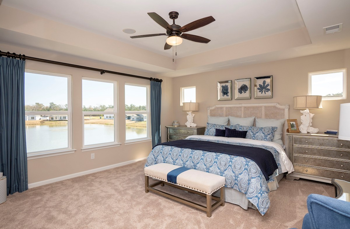 master bedroom is located on the second floor