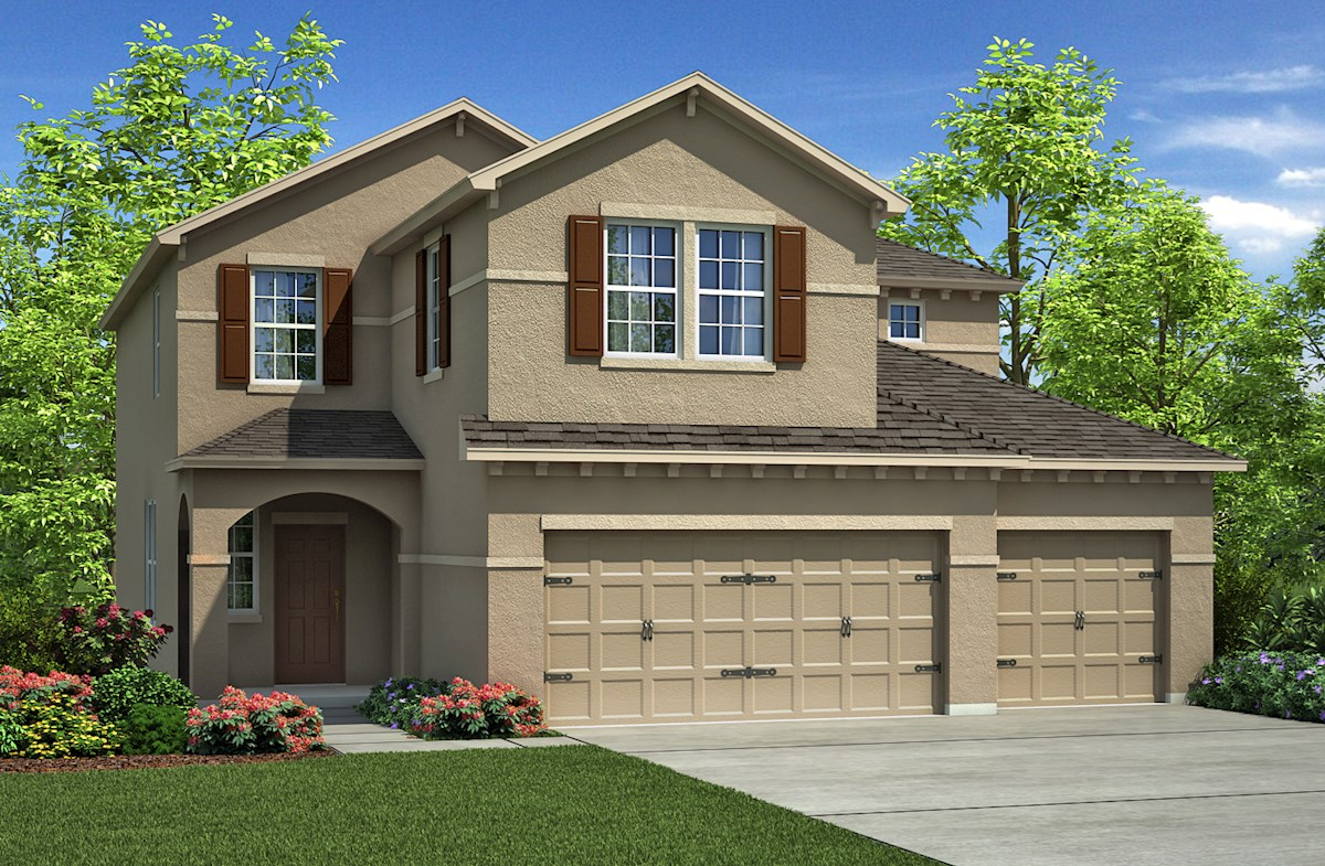 captiva home plan in the reserve at pradera riverview fl beazer
