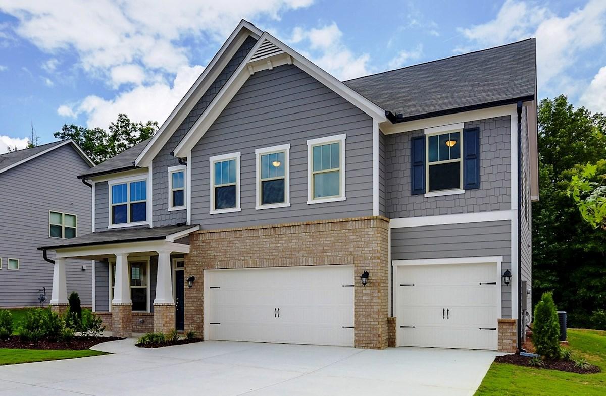 Chandler Home Plan in Hampton Station, Canton, GA | Beazer Homes ...