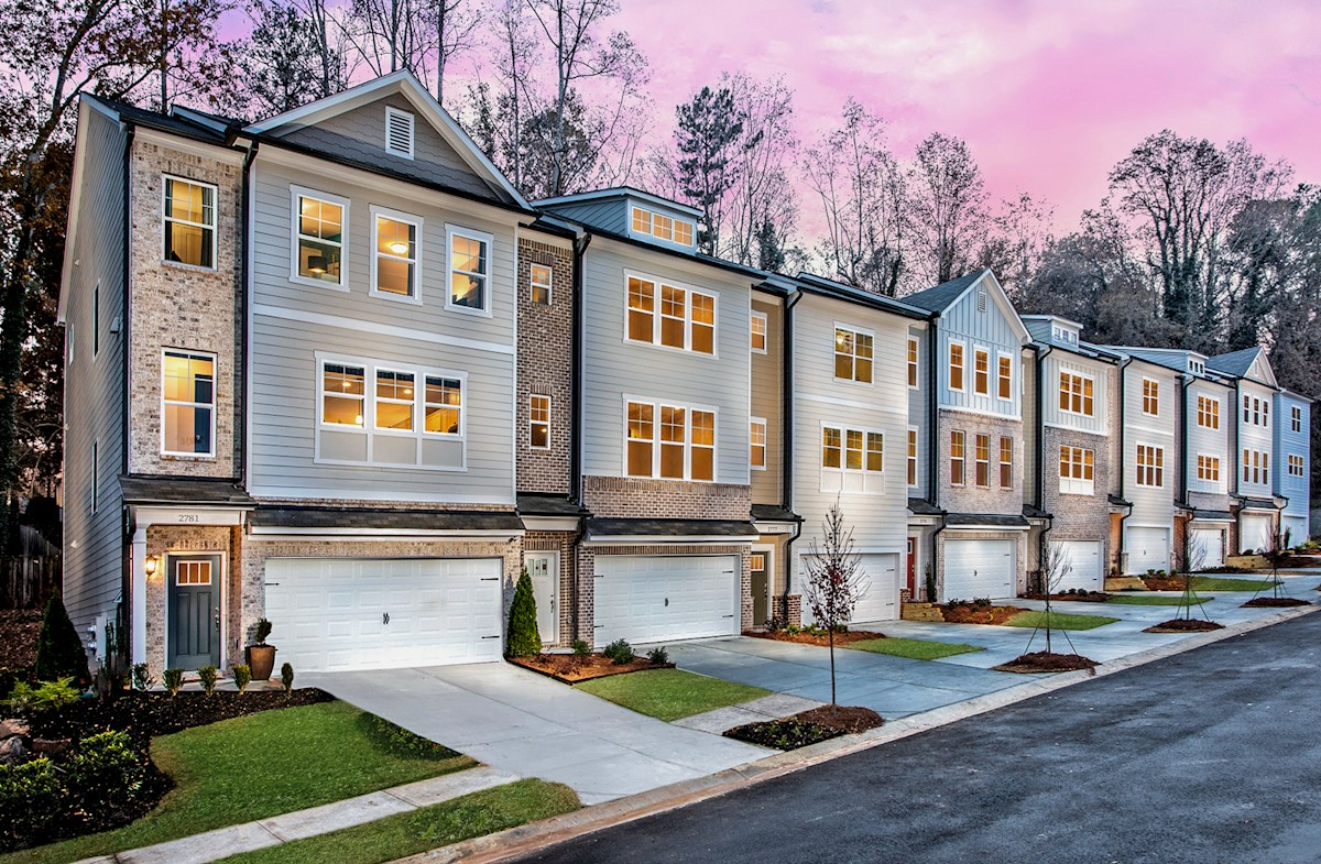 Three-story Townhomes with 2-car garages