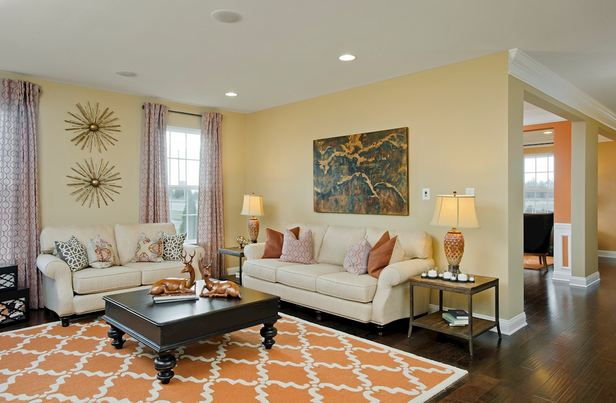 The Preserve at Windlass Run - Single Family Homes Oxford welcoming great room