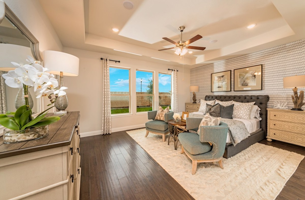 ArrowBrooke Blackburn master bedroom with large windows