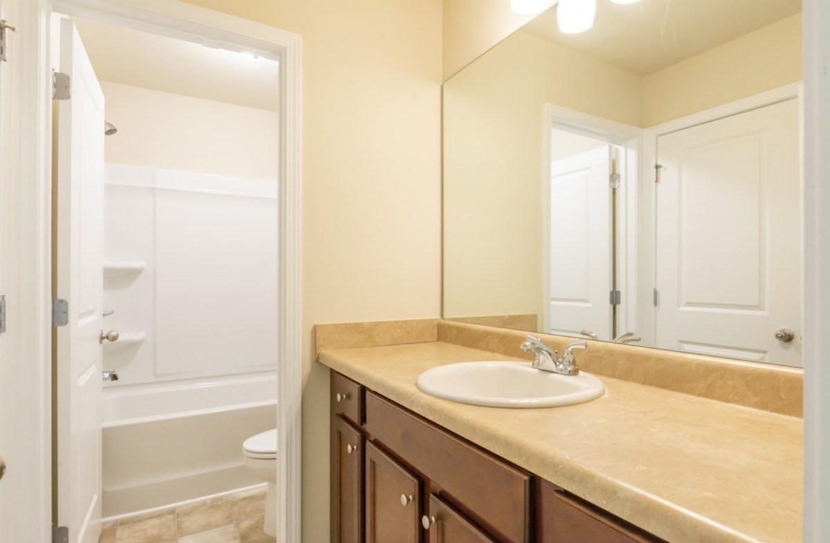 Burton quick move-in Secondary Bathroom with large counter space