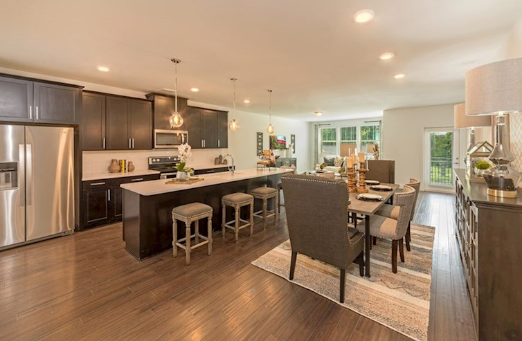 Gatherings® at Westview Sherwood spacious kitchen with designer cabinetry