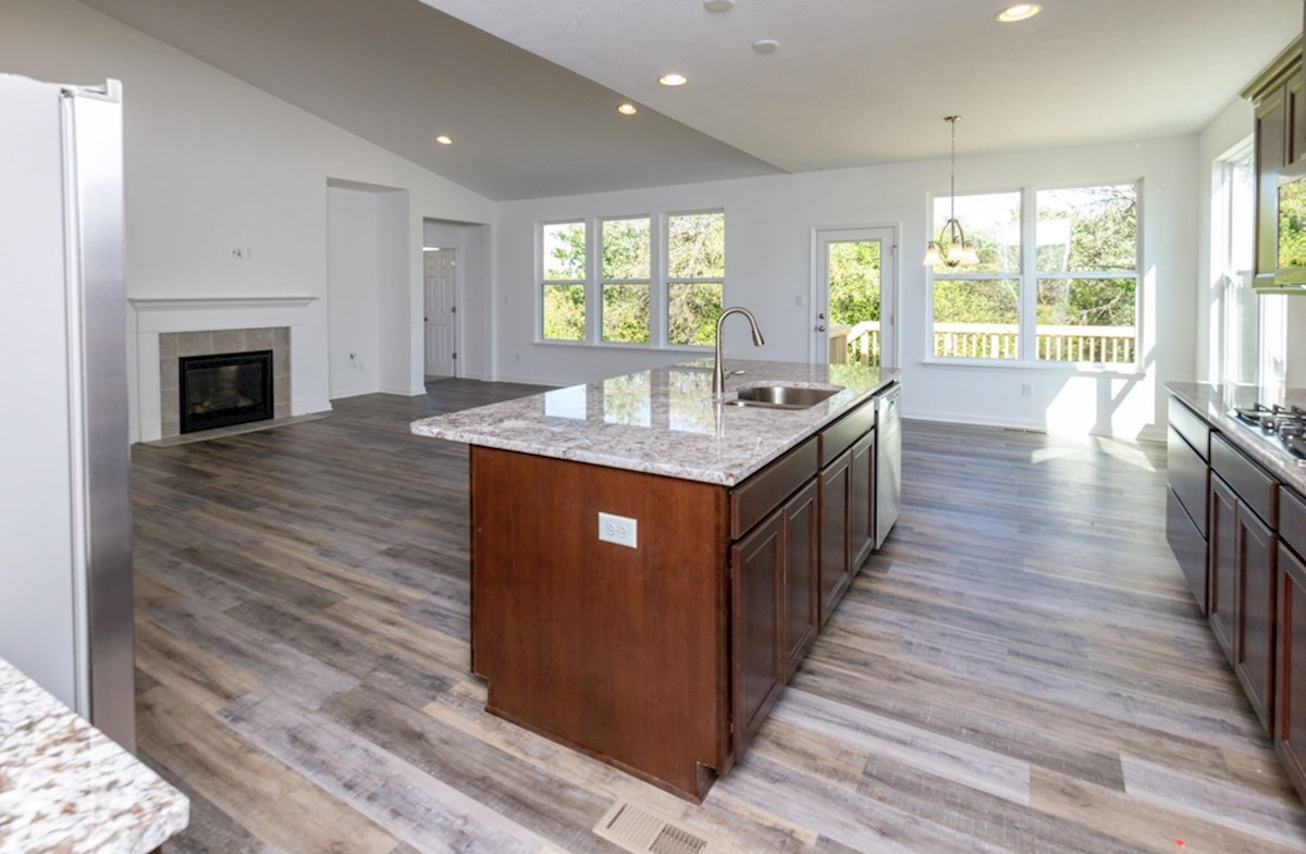 Greenwich quick move-in Open concept kitchen for entertaining